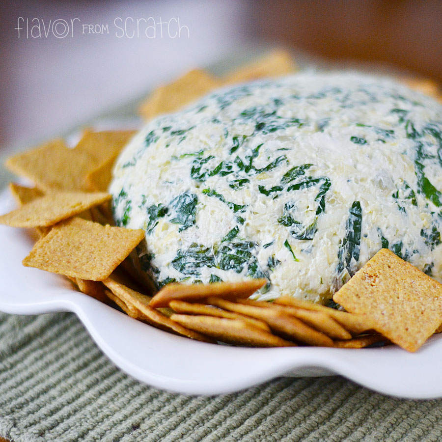 Spinach Artichoke Cheese Ball   Flavor From Scratch