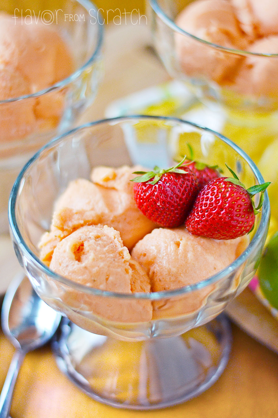how to make strawberry sorbet without ice cream maker